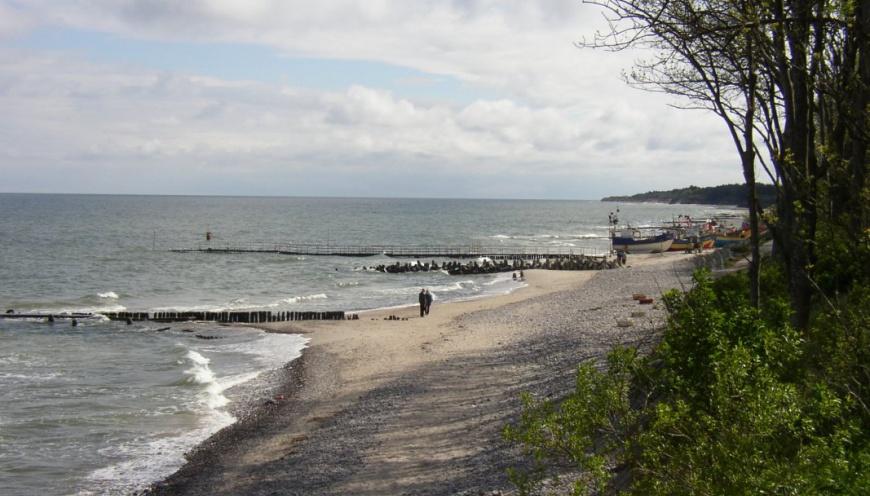 Spacery przy plaży